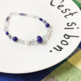 ::Period limited offer:: MH sterling silver natural stone custom series _ Calpis _ lapis lazuli