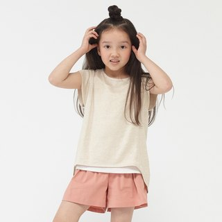 Ángeles-linen knit two-piece top