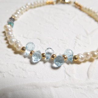 The new mini Topaz pearl bracelet praise stall again