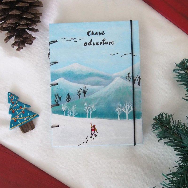 我和白雪筆記本繪圖筆記本筆記本日記手工筆記本
