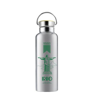 Around the World Series - Bamboo Cover Vacuum Sports Water Bottle Series PLUS (Rio)