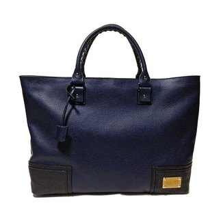Dark Navy B4 Zip Tote Bag