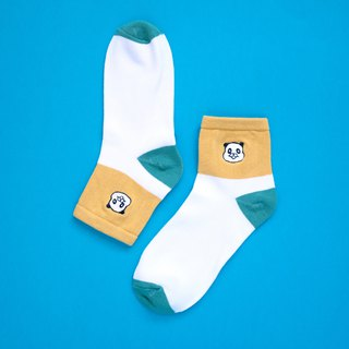 Panda embroidered cotton socks