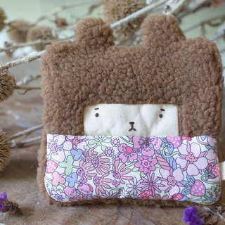 Doll Bunny Purse - Brown Hair - Amusement Garden / Powder