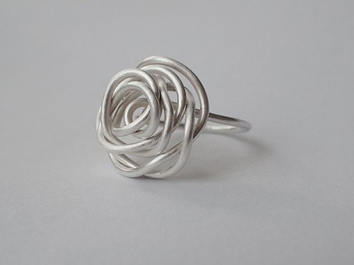 Lightup workshop - Rose ring, 999-Fine silver wire