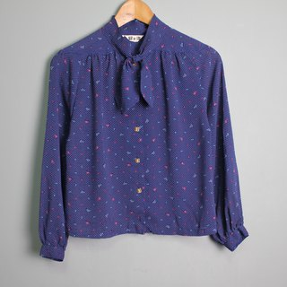 FOAK vintage galaxy dot scarf shirt