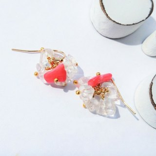 coral pink * crushed ice pierce