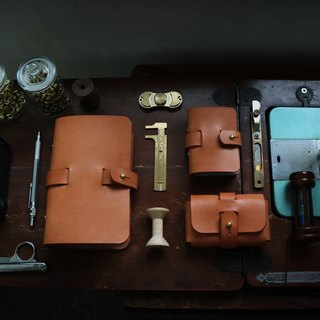 <隆鞄工坊>Denim gentleman series (yellow-brown)-business card holder/card holder/business card storage/large space