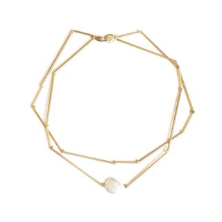 Polygon pearl necklace Pearl polygon necklace