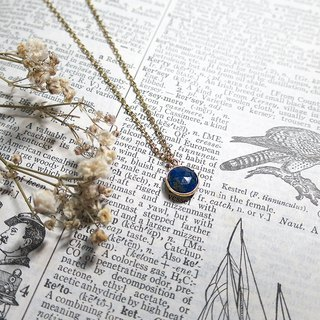 ♦ VIIART ♦ Prayer ♦ Vintage natural lapis lazuli 18K necklaces with silver plating on sale