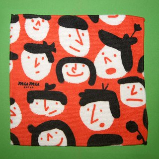 Towel Square Series Red Tongtong Small Face