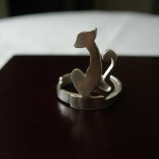 Movable silver ring - Cat