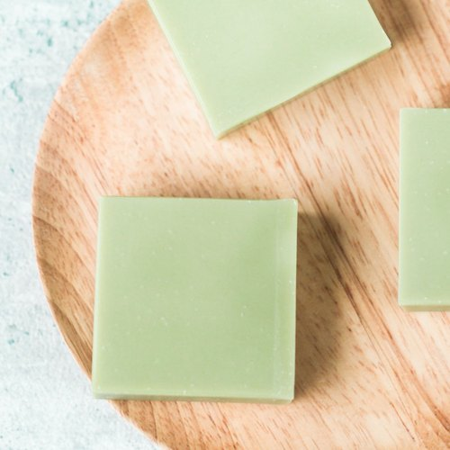Avocado light green artisan soap