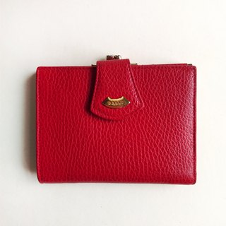 A ROOM MODEL - VINTAGE, BD-0619 BALLY red mouth gold short clip