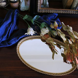American Golden Antique Mirror Tray No.19 Mirror Mirror Plate