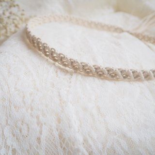 Macrame Bridal Headpiece / Bridal Headhand / Wedding Accessories / Diamond