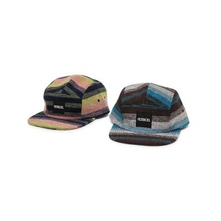 Filter017 Horizontal Stripe Wool 5-Panel Cap Filter017 毛料橫紋五分割帽
