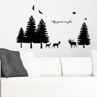 Smart Design Creative wall stickers Incognito ◆ pine forest (8 colors)