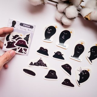 Stickers | black and black stickers