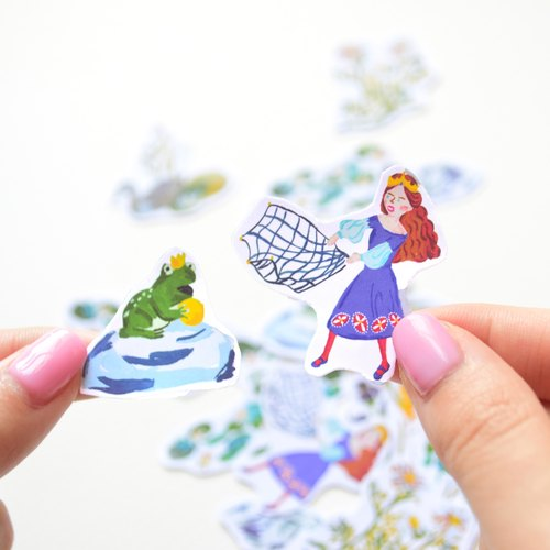 Fairytale stickers / The Frog Prince / 20 in 1 set / Buy 3 get 1 free