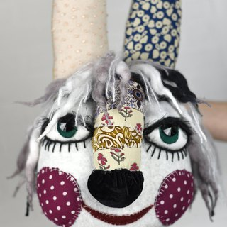 Ljavoncik (bunny) - puppet, original exclusive made doll