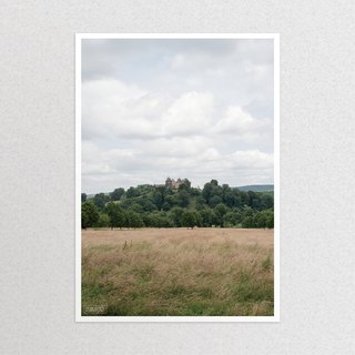 """Photography xA3 poster"" distant castle"
