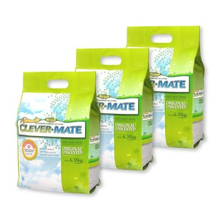 CEVER-MATE Certified Cat Litter Added as a Filtration Wine - Unscented (6.35 kg x 3 packs)