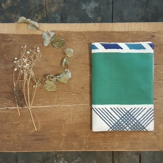 Kyoto fabric Passport Holder - grid. Pattern (A section)