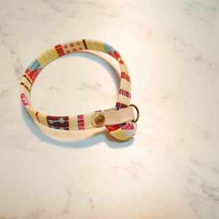 Cat collar festive party yellow irregular double-sided wear can add purchase tag