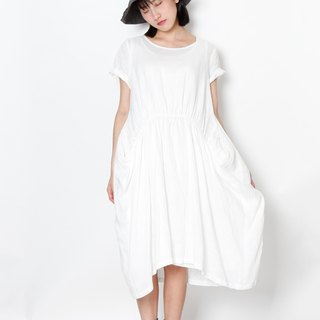 And - Tuscany under the sun - waist elastic wide dress