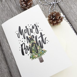 Merry & Bright English calligraphy / tying congratulate Christmas 2016/3 Get 1