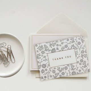 Dailylike-Classic Time Folding Small Cards-07 Grey: Thanks, E2D40426