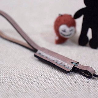 YOURS leather slender hook with deep wood color leather