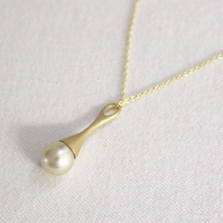 South Sea pearl pendant Silver 2 (gold color)