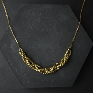 Tweezers - Brass Necklace