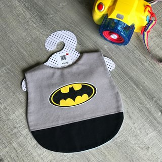 Mi Yue ceremony styling bib child fun pocket Batman hand made a meal pocket can be customized to pick the embroidered word
