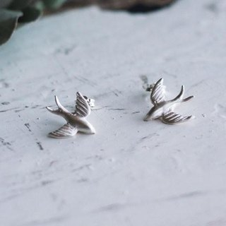 sv925 swallow earrings
