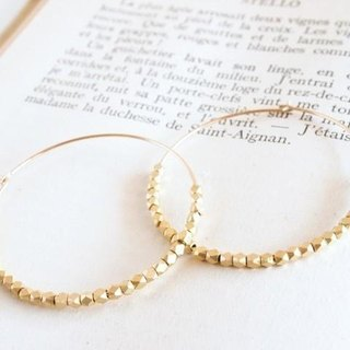 14KGF Metal Beads Hoops GD / L