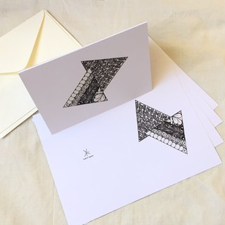 Gift Coloring Cards-Duo Triangles (5PCS/SET)