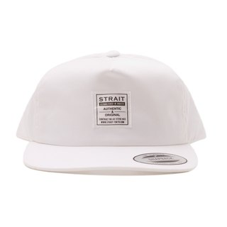 TAG 5 PANEL SNAPBACK CAP # WHITE