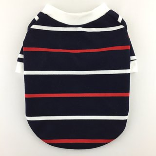 Navy Striped Winter Top, Ponte di Roma, Winter Dog Top, Dog Apparel