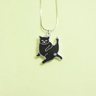 BLACK WISHES cat necklace