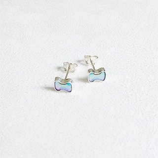 Bow glass/Earrings/Swarovski Crystal/Sterling Silver/By hand【ZHÀO】SZE1643