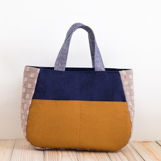 Handbag - dark blue x yellow EH104 (exclusive to Ariel)