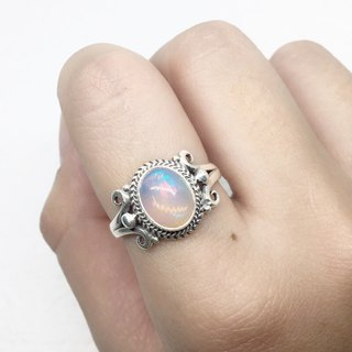 Opal 925 sterling silver gorgeous style ring Nepal handmade mosaic production