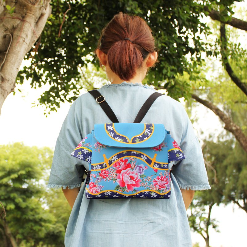 Taiwan traditional Printed pattern BAG (BLUE)