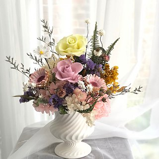 [Table flower] opening / celebration / birthday / gift / home / not withered flowers + dry flowers