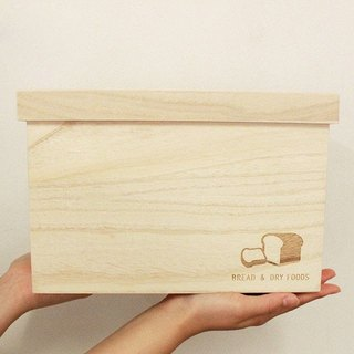 "Bread box ""BREAD & DRY FOODS 2 loaf"" Fashionable Storage box made in Japan wooden(kiri) Preservation of rice 食パン ブレッドケース おしゃれ パンケース ""BREAD & DRY FOODS""2斤