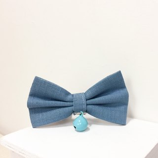 Sky blue cat mini dog small dog bow decorative collar