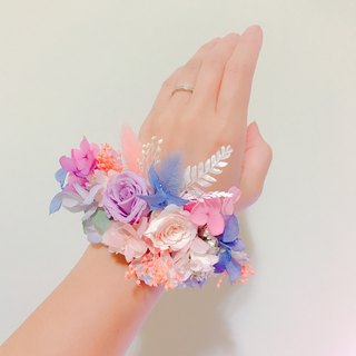 [Tenderness like water-wedding wrist flower] dry flower wrist flower bridesmaid self-help wedding dress